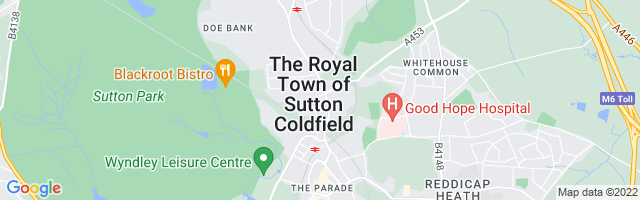 Map Of Sutton Coldfield