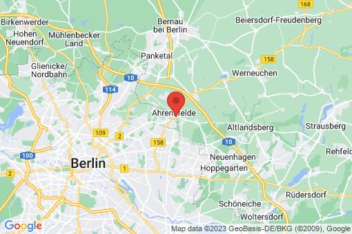 Karte Ahrensfelde