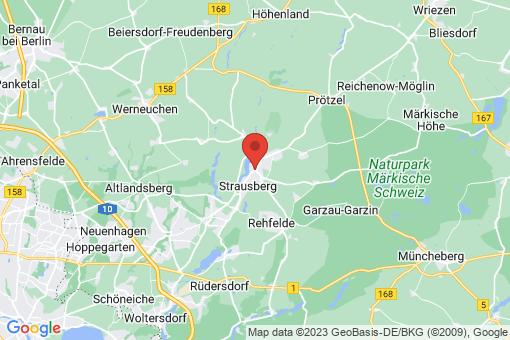 Karte Strausberg