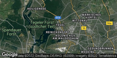 Google Map of Tegel