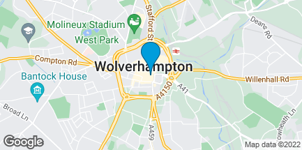 Map of 2e Wulfrun Square in Wolverhampton