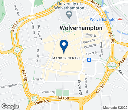 Map of 72-74 The Mander Centre in Wolverhampton