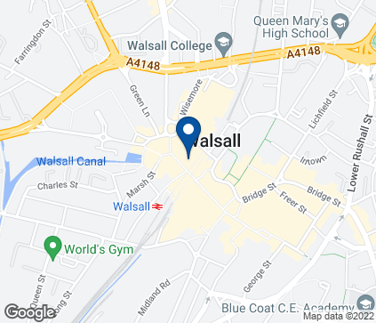 Map of 58 Park Street in Walsall