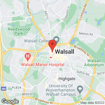 Map of wilko Walsall at Unit B Park Place, Walsall,  WS1 1NG
