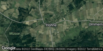 Google Map of Hohne bei Celle