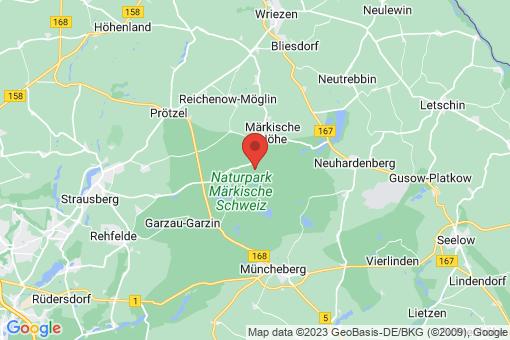 Karte Oberbarnim Bollersdorf, Pritzhagen