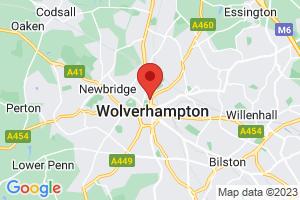University Library, University of Wolverhampton on the map