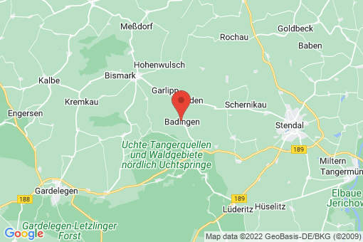 Karte Badingen