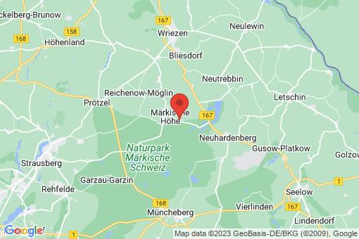 Karte Märkische Höhe Ringenwalde