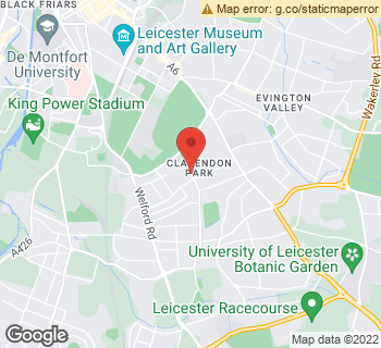 Map of The Flower Corner at 95A Queens Road, Leicester, Leicestershire LE2 1TT