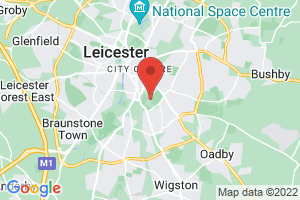 University of Leicester, David Wilson Library on the map