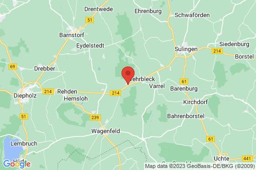 Karte Freistatt