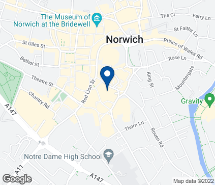 Map of 19 Castle Mall in Norwich