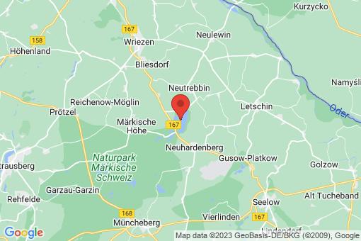Karte Neuhardenberg Altfriedland