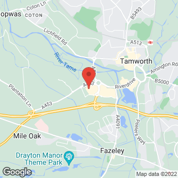 Map of wilko Tamworth Retail Park at Unit 1 Tamworth Retail Park, Tamworth,  B78 3HD