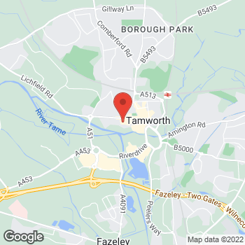 Map of wilko Tamworth at Peel Arms, Tamworth,  B79 7LU