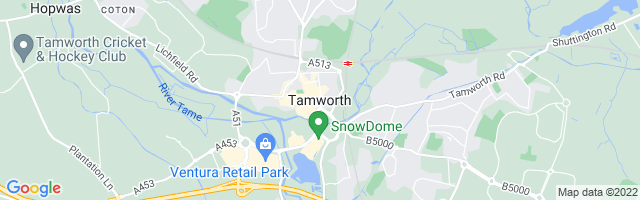 Map Of Tamworth
