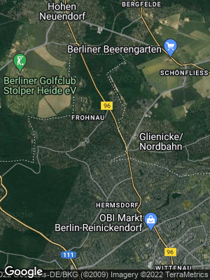 Google Map of Frohnau