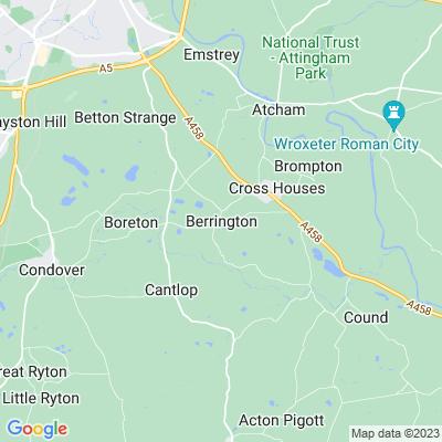 Berrington Hall, Shrewsbury Location