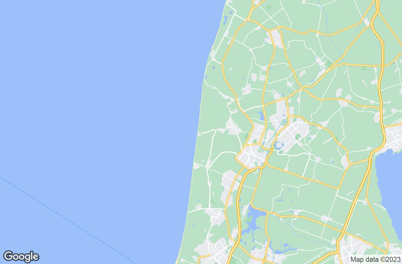 Google Map of Bergen aan Zee