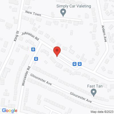 Map of Johnston Road, Dawley, Telford. TF4