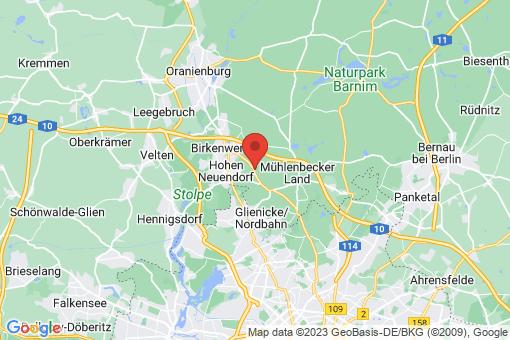 Karte Bergfelde