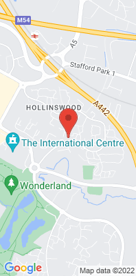 Map showing the location of the Telford Hollinswood monitoring site