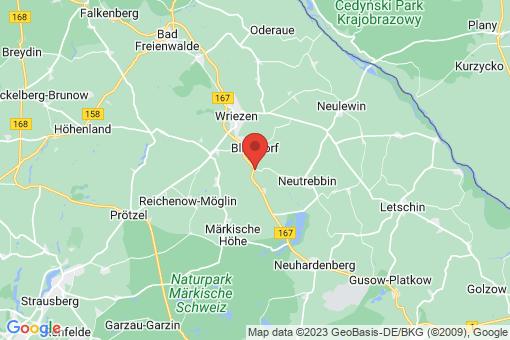 Karte Bliesdorf Kunersdorf
