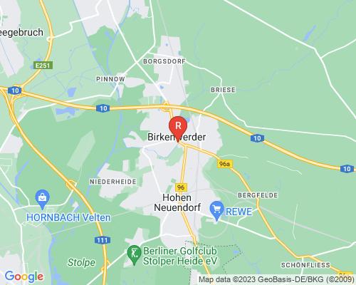 Google Karte von Rohrreinigung Birkenwerder