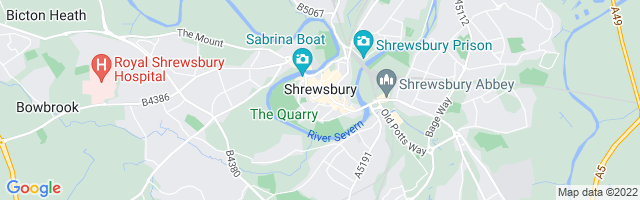 Map Of Shrewsbury