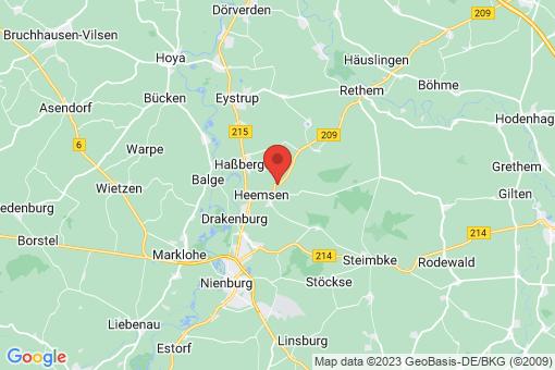 Karte Heemsen Gadesbünden
