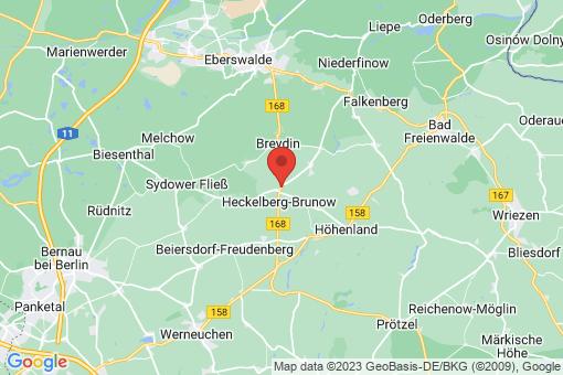 Karte Heckelberg-Brunow Heckelberg