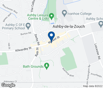 Map of 52 Market Street in Ashby De La Zouch