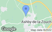 Map of Ashby-de-la-Zouch, Leicestershire