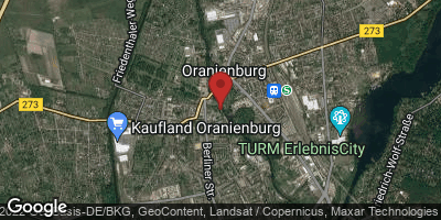 Google Map of Oranienburg