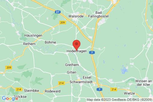 Karte Hodenhagen