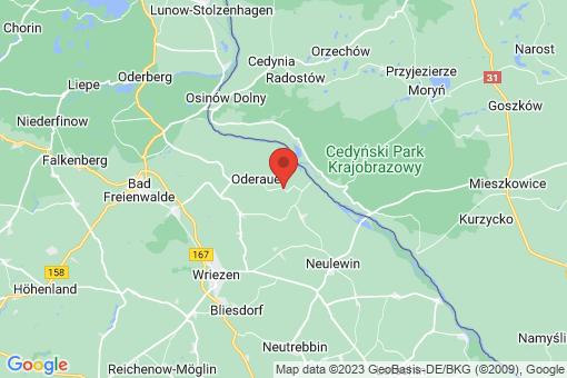 Karte Oderaue Zäckericker Loose