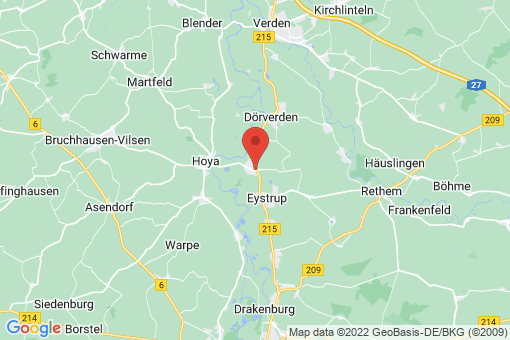 Karte Hassel (Weser)