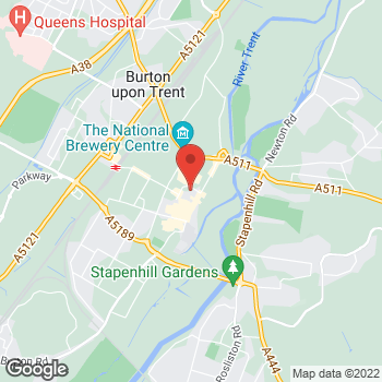 Map of wilko Burton at 1 Burton Place Shopping Centre, Burton Upon Trent,  DE14 1BU