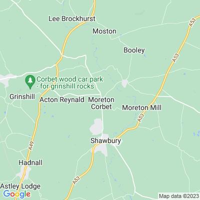 Moreton Corbet Location