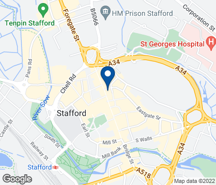 Map of 39 Gaolgate Street in Stafford