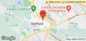Map of THE CO-OPERATIVE FLORIST STAFFORD at 3A Slater Street, Stafford, Staffordshire ST16 2JU