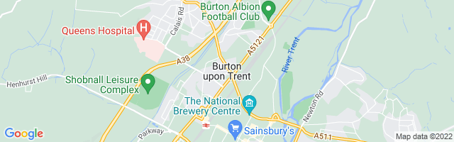 Map Of Burton-on-Trent