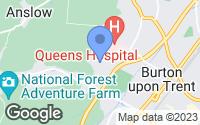 Map of Burton-on-Trent, Staffordshire