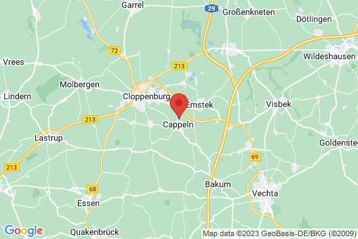 Karte Cappeln (Oldenburg)