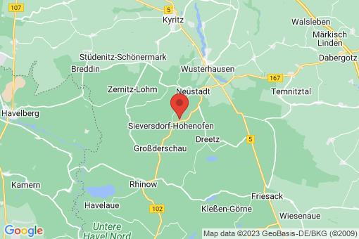 Karte Sieversdorf-Hohenofen