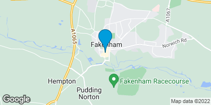 Map of 1 Millers Walk in Fakenham
