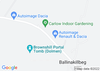 Map view of Active Cars Carlow