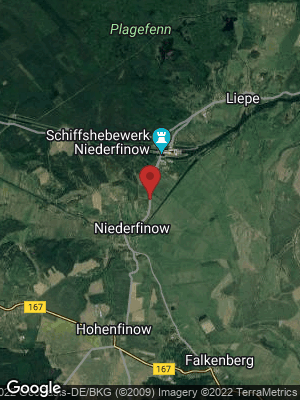 Google Map of Niederfinow