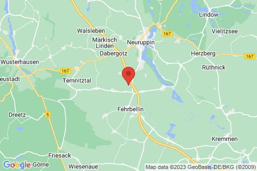 Karte Fehrbellin Walchow